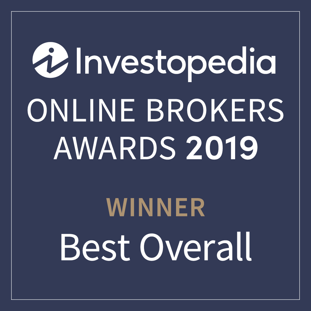 Named among the top online brokers in Investopedia's 2019 Online Broker survey.
