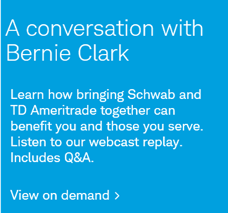 Webcast replay: A Conversation with Bernie Clark.