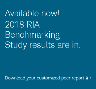 Available now! 2018 RIA Benchmarking Study results are in. Download your customized peer report.