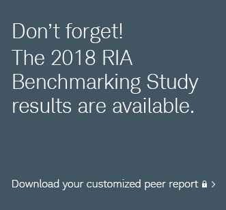 Don't forget! The 2018 RIA Benchmarking Study results are available. Download your customized peer report.