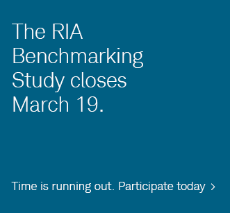 The RIA Benchmarking Study closes March 19. Time is running out. Participate today.