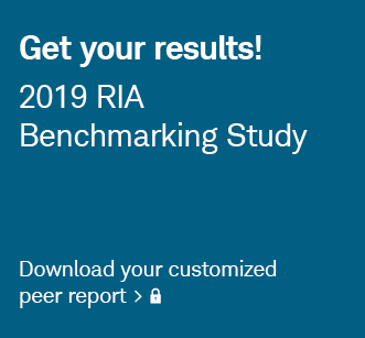 Get your results! 2019 RIA Benchmarking Study. Log in to download your customized peer report.