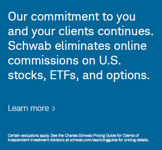 Schwab eliminates online commissions on US stock, ETF, and options.