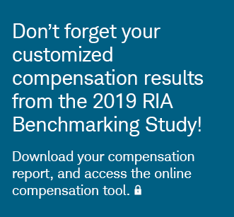 Don't forget your customized compensation results from the 2019 RIA Benchmarking Study! Log in to download your compensation report, and access the online compensation tool.