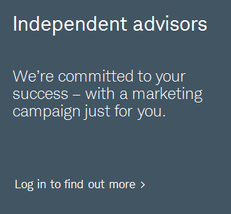 Independent advisors. We're committed to your success -- with a marketing campaign just for you. Log in to find out more.