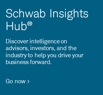 Schwab Insights Hub®. Discover intelligence on advisors, investors, and the industry to help you drive your business forward.