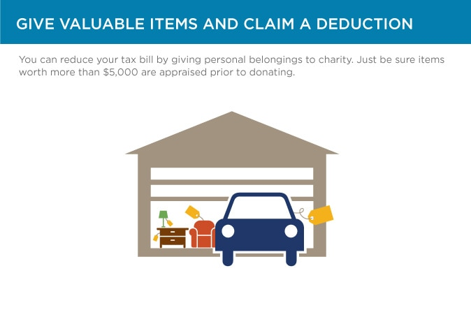 Give valuable items and claim a deduction