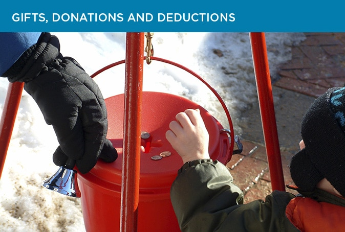 Gifts, donations and deductions