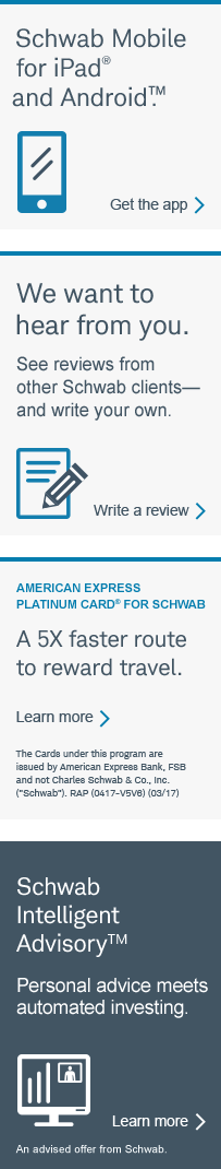 American Express Platinum Card® for Schwab. A 5X faster route to reward travel.